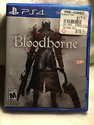 Bloodborne Ps4 Sony Playstation 4 Video Game 711719053156 Ebay Hack And Slash Bloodborne Ps4 Playstation 4