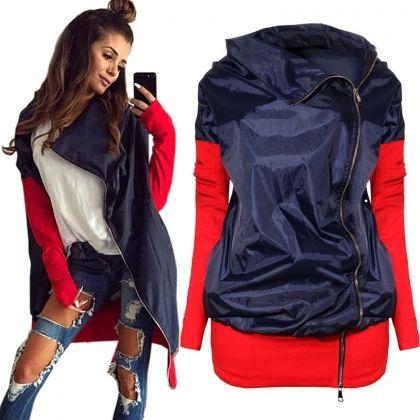 Dwukolorowa Kurtka Typu Wiatrowka Jackets Fashion Rain Jacket