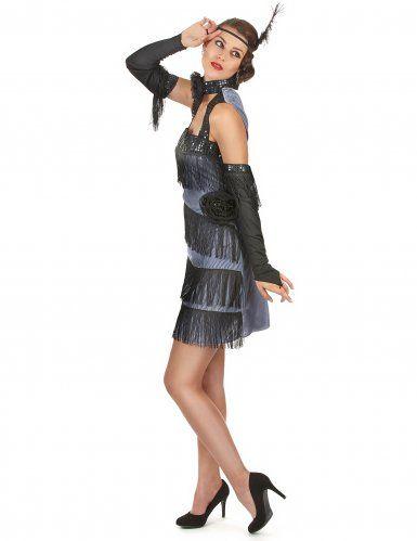 130a68c85162 Costume Charleston donna: Questo costume charleston da donna è composto da  un vestito nero e
