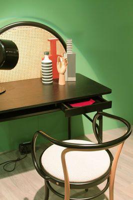 Mobilier Bureaux Bureau Allegory Cannage Bois L 100 Cm Wiener Gtv Design Noir Paille Naturel Cannage Chaise De Salle A Manger Mobilier De Salon