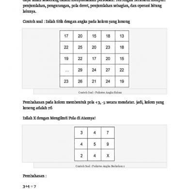 Download Contoh Soal Psikotes 2019 Matematika Gambar Polri Bank Karayawan Deret Angka Pdf Cpns Sma Online Dan Jawabanny Matematika Perlengkapan Kelas Psikologi