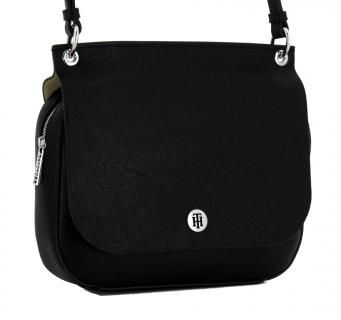 Messenger Bag Tommy Hilfiger Core Schwarz Beige Uberschlag Bags More Schwarze Tasche Messenger Bag Taschen