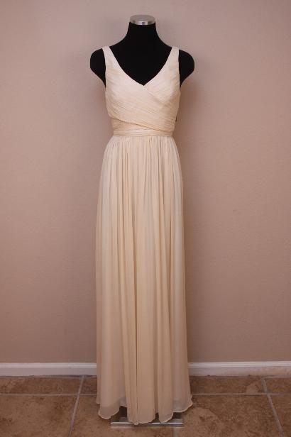 JCrew $365 Silk Chiffon Heidi Gown 4 Champagne Cocktail
