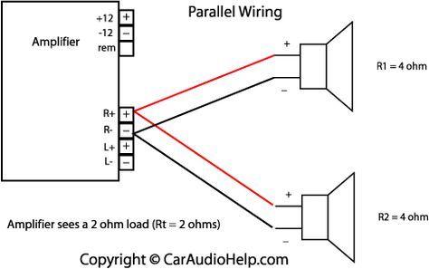 Parallel Speaker Wiring Car Audio Amplifier Car Audio Installation Car Audio