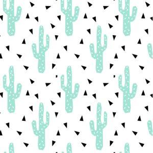 Pattern cactus vert clair et blanc