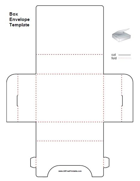 Free Printable Box Envelope Template Free Printable Box Envelope Template That Can Be Paper Box Template Box Templates Printable Free Templates Printable Free