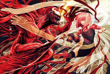 Elfen Lied By Ofskysociety On Deviantart Battle Fan Carnage Anime Galaxy