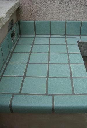 V Cap Tiles Trim The Edge Of A Tiled Counter Updatingbathroomfurnituretips Tile Countertops Countertops Ceramic Floor Tiles
