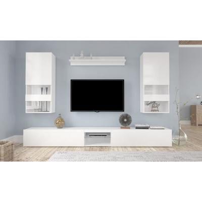 Neverland Ensemble Sejour Contemporain Laque Blanc L 268 Cm En 2020 Meuble Tv Meuble Tv 100 Cm Petit Meuble Tv