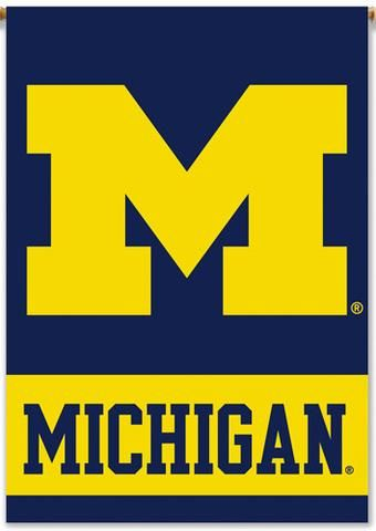 Michigan Wolverines Car and NCAA Auto Flag