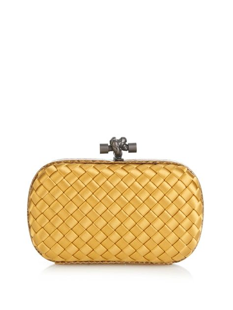b5a5f0c808 Knot satin and water-snake clutch