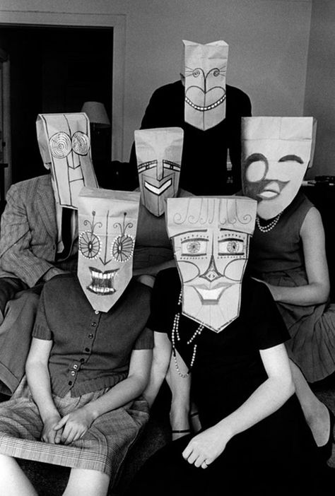 vintage everyday: Mask Series with Saul Steinberg Photographed by Inge Morath…