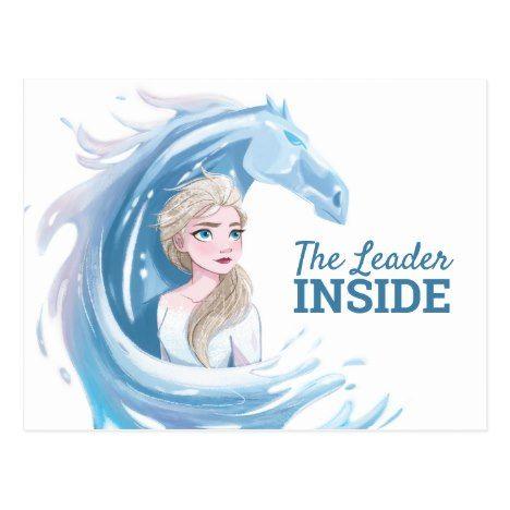 Frozen 2 Elsa The Nokk Portrait Postcard Zazzle Com Canvas Prints Frozen Canvas