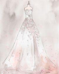 Custom Bridal Dress Portrait Lauren Maurer Artworks I Think