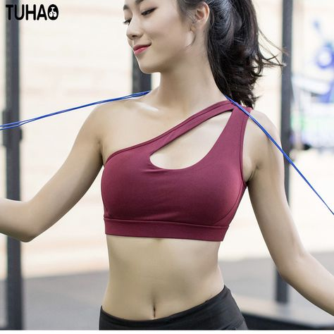 b7ba1d75bc3e7 2017 new running yoga shockproof sports bra women s Sport bra Medium Fitness  bra High elastic Padded Workout Active top XX07 ~ Shop now for Xmas.