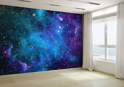 Space Galaxy Stars Wallpaper Mural Photo 46112002 Budget Paper Ebay Galaxy Room Room Ideas Bedroom Galaxy Bedroom