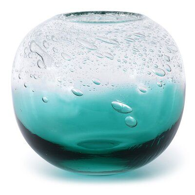 Dynasty Gallery Atmosphere Teal Clear 8 Indoor Outdoor Glass Table Vase Perigold Table Vases Glass Table Vase Shop