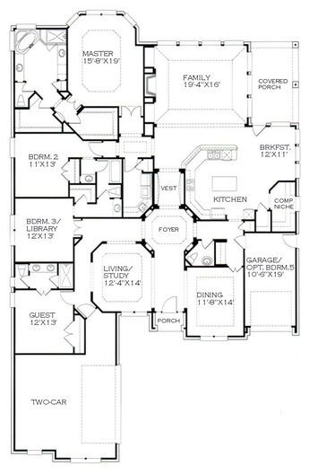 Beautiful Floor Plan Custom Home Plans Floor Plans House Floor Plans