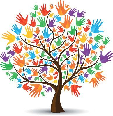 Tree Hands Colored Hand Coloring Tree Art Hand Art
