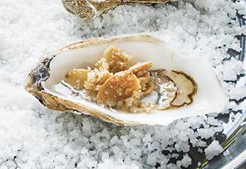 Huîtres grillées aux amandes