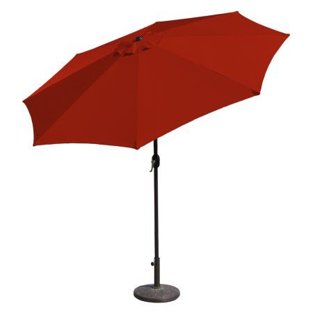Budge Sunblock Waterproof Patio Umbrella 11 Diameter Tilt Aluminum Pole Size 11 Diameter 8 5 Inch High Red Aluminum Patio Offset Patio Umbrella Patio Umbrella Lights