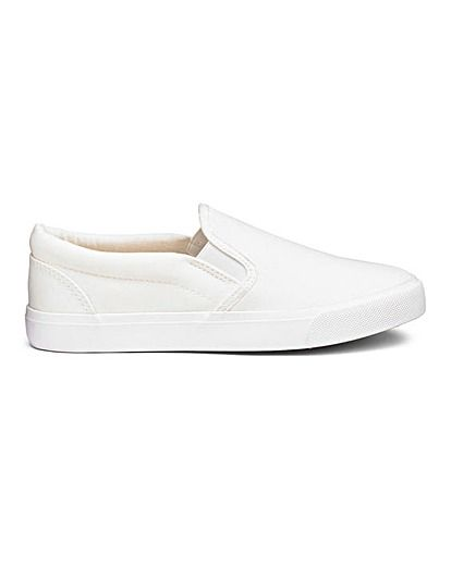 Pia Canvas Slip On Wide Fit   Simply Be