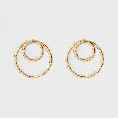 b10a5f5dd5dd9 SUGARFIX by BaubleBar Modern Hoop Earrings - Gold #Modern ...