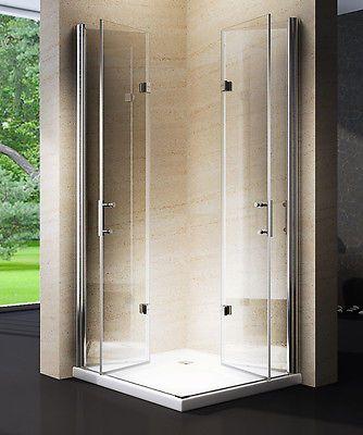 Shower Cubicle Enclosure Folding Corner Entry Nano Real Glass 8mm 195cm Ebay Shower Cubicles Modern Shower Shower Doors