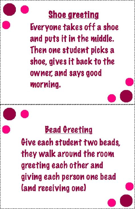 This is a collection of some Morning Meeting Greetings you can use in early childhood classrooms.