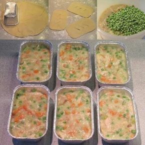 Make-Ahead Mini Chicken Pot Pies. Make ahead meals for busy moms! Take them to work or make them for dinner. So smart! Make-Ahead Mini Chicken Pot Pies. Make ahead meals for busy moms! Take them to work or make them for dinner. So smart! Budget Freezer Meals, Freezer Cooking, Cooking Recipes, Freezer Recipes, Easy Recipes, Batch Cooking, Easy Cooking, Crockpot Recipes, Cooking Tips