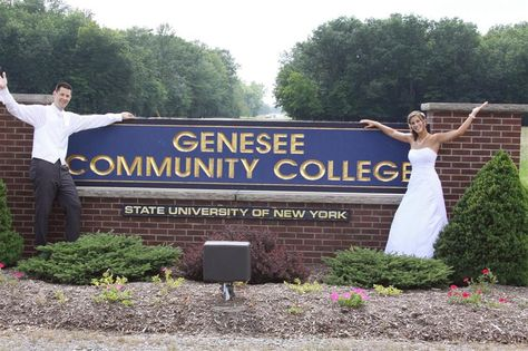 Celebrating #love at #sunygcc - Kelly and Matt met at GCC, and even came back to take their wedding pictures! #metmymate