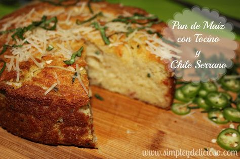 Simple & Delicioso: Pan de Maíz con Tocino y Chile Serrano #AD #MasecaNosGusta