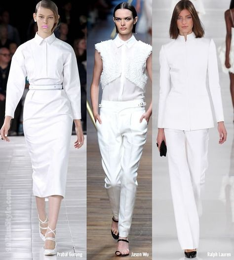 New spring / summer 2014 trends spotted at New York Fashion Week: all white