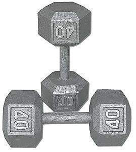 10lb Total Pair Of 2 Fitness Gear 5 LB Dumbells Cast Iron Home Workout
