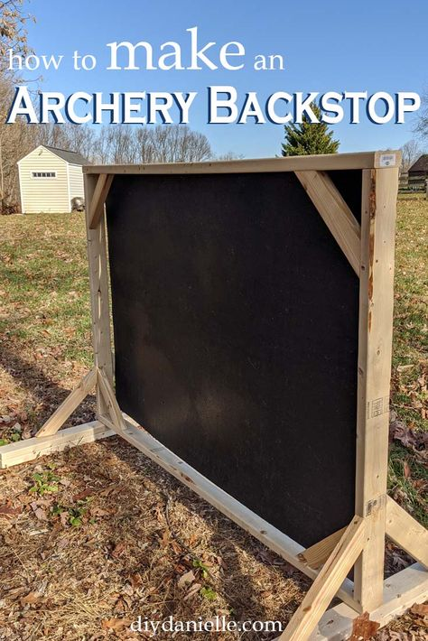 Want to practice with your bow but don't have anywhere to go? Make your own backstop and home archery range! This DIY backstop will keep arrows from getting lost.