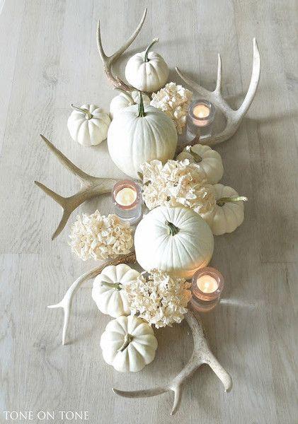 Antler White - Modern Thanksgiving Decor You'll Actually Want To Display - Photos