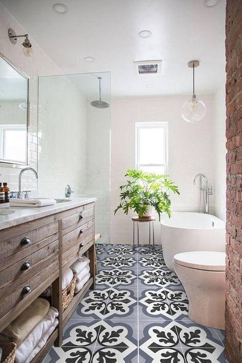 Explore Bathroom Tile Ideas On Pinterest See More Ideas About Bathroom Tile Ideas Shower Walk In Colo Vinyl Tile Small Bathroom Remodel Bathroom Interior