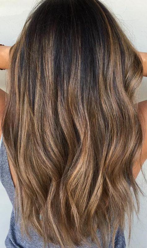 24+ Caramel golden brown balayage brown hair ideas