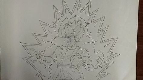 Goku Super Saiyan Blue Kaioken 10 Drawing Dbs