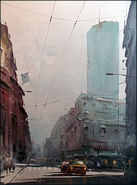 Dusan Djukaric is a Serbian painter whose atmospheric watercolors capture his native Belgrade, along with Venice, Prague and other European cities.