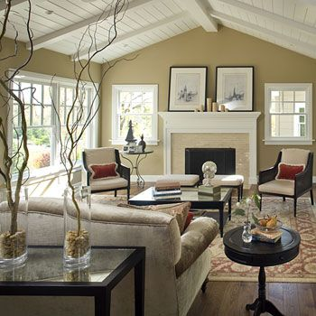 Cottage style - white wood pitch beamed ceiling. This is what I want for my pitched  ceiling!!   Cottage ideas   Pinterest   White wood, Cottage style and ...