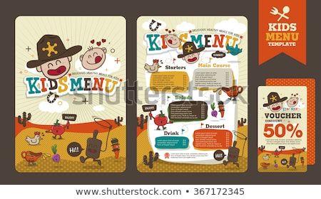 Cute Colorful Kids Menu Template Download Free Vector Art Stock Graphics Images Kids Menu Menu Template Kids Meals