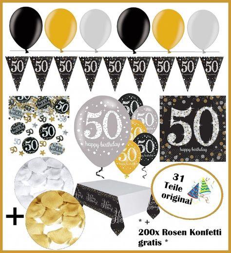 35 Elegant Tischdekoration 50 Geburtstag Party Birthday