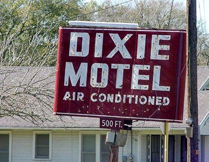 Brenham Tx Old Neon Dixie Hotel Air Conditioned