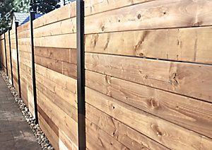 Slipfence Horizontal Channel Kit The Home Depot Canada Wood Fence Fence Design Horizontal Fence