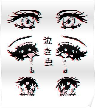 Anime Eyes Poster By Ultraviolent In 2021 Scary Drawings Anime Eyes Drawings