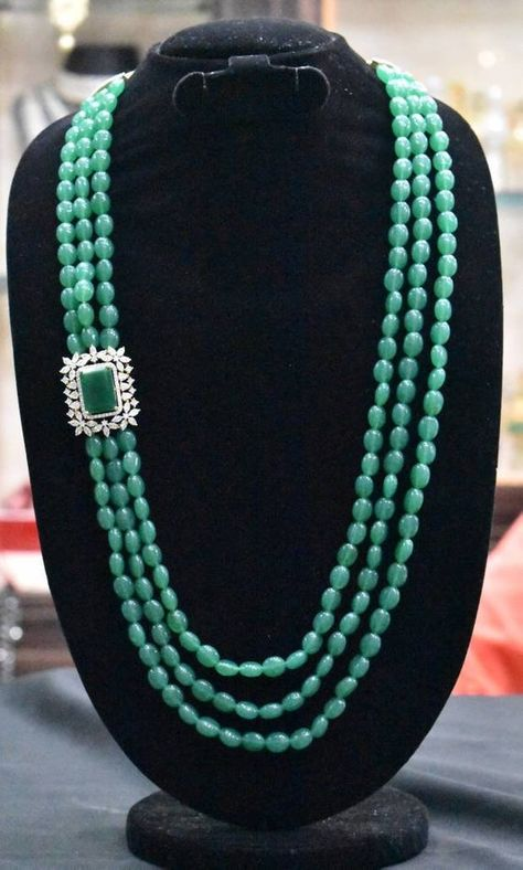 vintage beaded lapis jade and malachite necklace 120 14k gold clasp 29 inches long