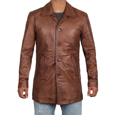 Winchester Men's Brown Leather Coat