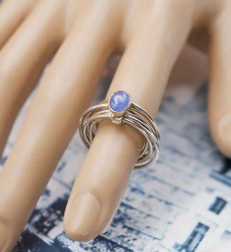 Silver Tiny Ring Sterling Silver 925 Best Jewelry Selectable Blue Sapphire CZ