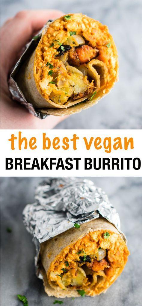 The Best Vegan Breakfast Burritos With Scrambled Tofu And Crispy Vegan Breakfast Hash I Best Vegan Breakfast Vegan Breakfast Burrito Breakfast Burritos Recipe